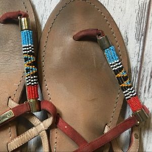 French beaded thing sandals